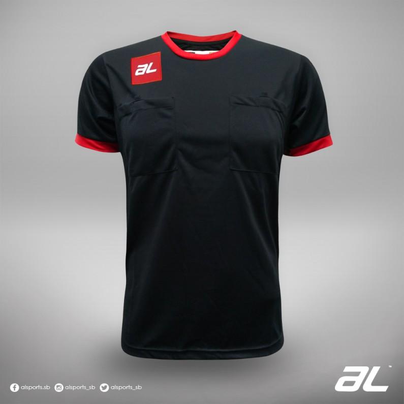 AL JC REFEREES BLACK/RED